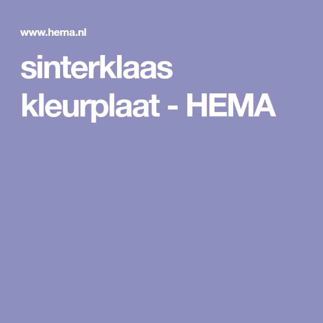 Sinterklaas Kleurplaat Hema Sinterklaas Bso Pinterest