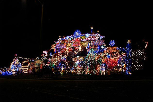 Would You Want A Massive Christmas Light Display On Your Street Poll Of The Day Holiday Lights Display Christmas Light Displays Christmas Lights Outside