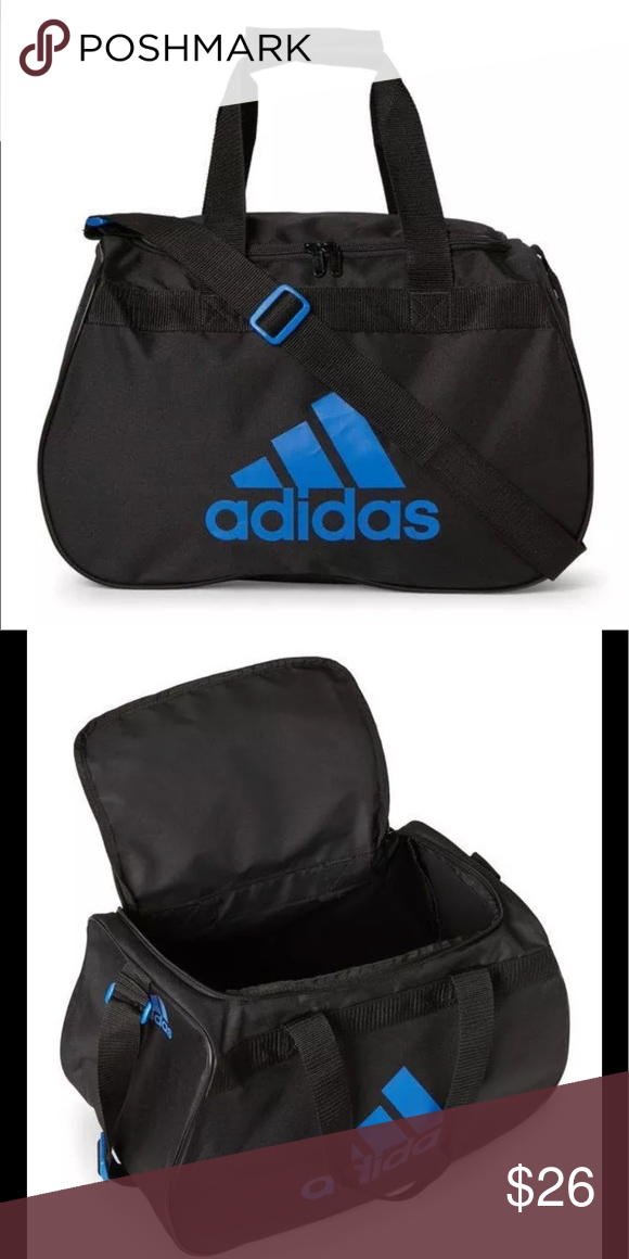 New adidas Diablo Small Duffel Bag gym basketball New with tag Brand new  Color  Black Blue Got a young athlete on your hands  Use this entry-level  bag for ... 4ea2c72a2f8ad