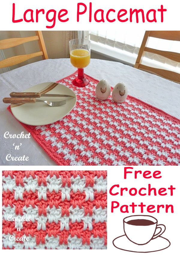 Crochet Large Placemat   Crochet & Amigurumi Corner - Community ...