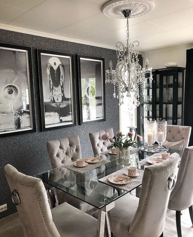 Image May Contain People Sitting Table And Indoor Rooms In 2019 Pinterest Dining Room Dining And Room Elegant Dining Room Dining Room Decor Elegant Luxury Dining Room