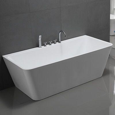 Freistehende Badewanne SYLT Badmöbel Badezimmer Armatur Chrom Wanne