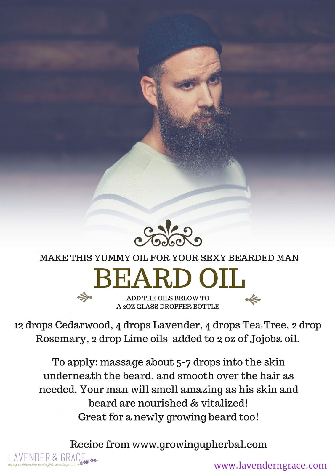 Diy Beard Balm Essential Oils For Your Man S Fall Www Lavenderngrace