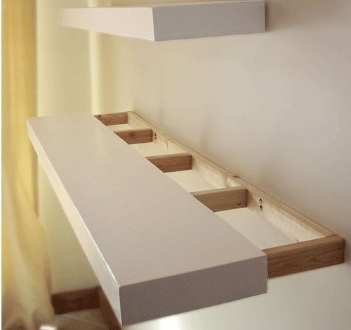 floating shelf for printer etc gardner new home in 2019 wood rh pinterest ca