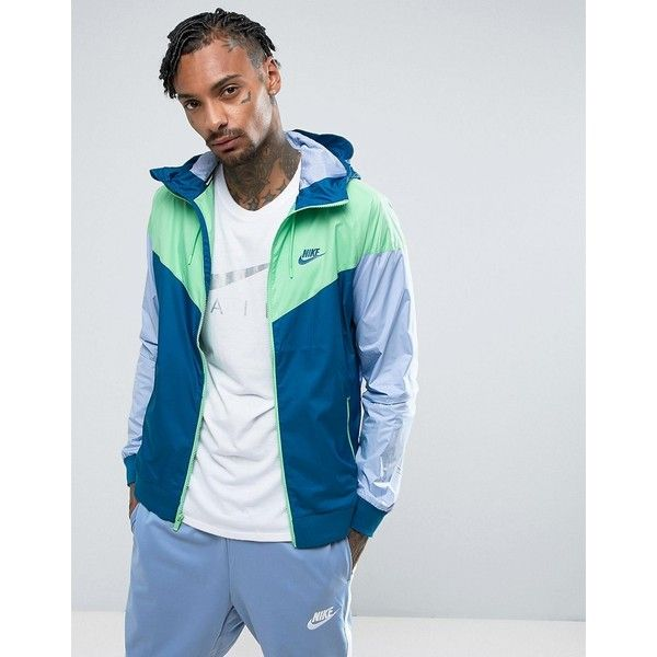 Nike Windbreaker Jacket In Blue 727324-459 (93 AUD) ❤ liked on Polyvore f493f05ff