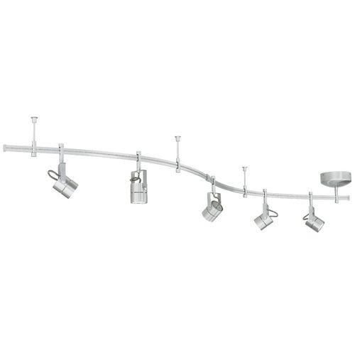 Five Light Rail Kit With Focus Heads Flexible Track Lighting Track Lighting Kits Track Lighting