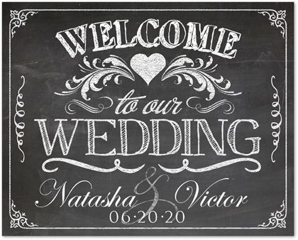 vintage framed Welcome Wedding Sign Ideas Vintage Chalkboard - chalk board invitation template