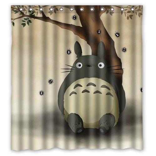 New arrival waterproof brand My Neighbor Totoro shower curtain 66x72