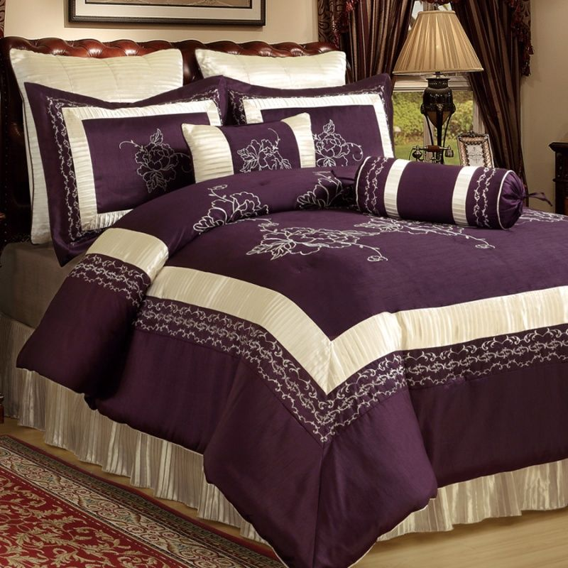 Ivory And Plum Comforter Set Wall Art Pinterest