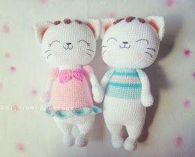 Amigurumis Gatos Patrones Gratis : Amigurumi gato como me descuide me hago un ejército de gatosushis