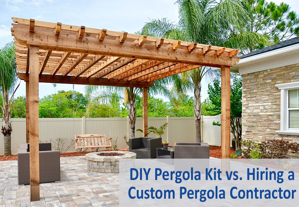 DIY Pergola Kit vs. Hiring a Custom Pergola Contractor - DIY Pergola Kit Vs. Hiring A Custom Pergola Contractor APS Blogs