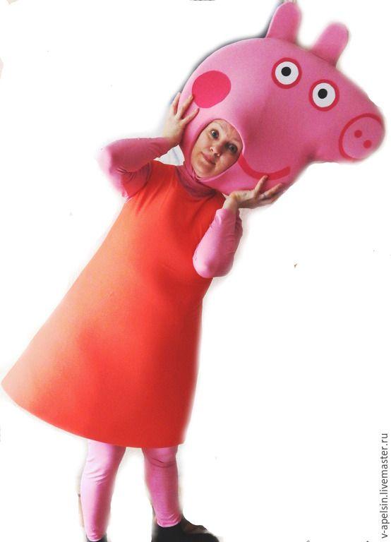 Купить Костюм для аниматора Свинка Пеппа - бледно-розовый 180d4548266fd