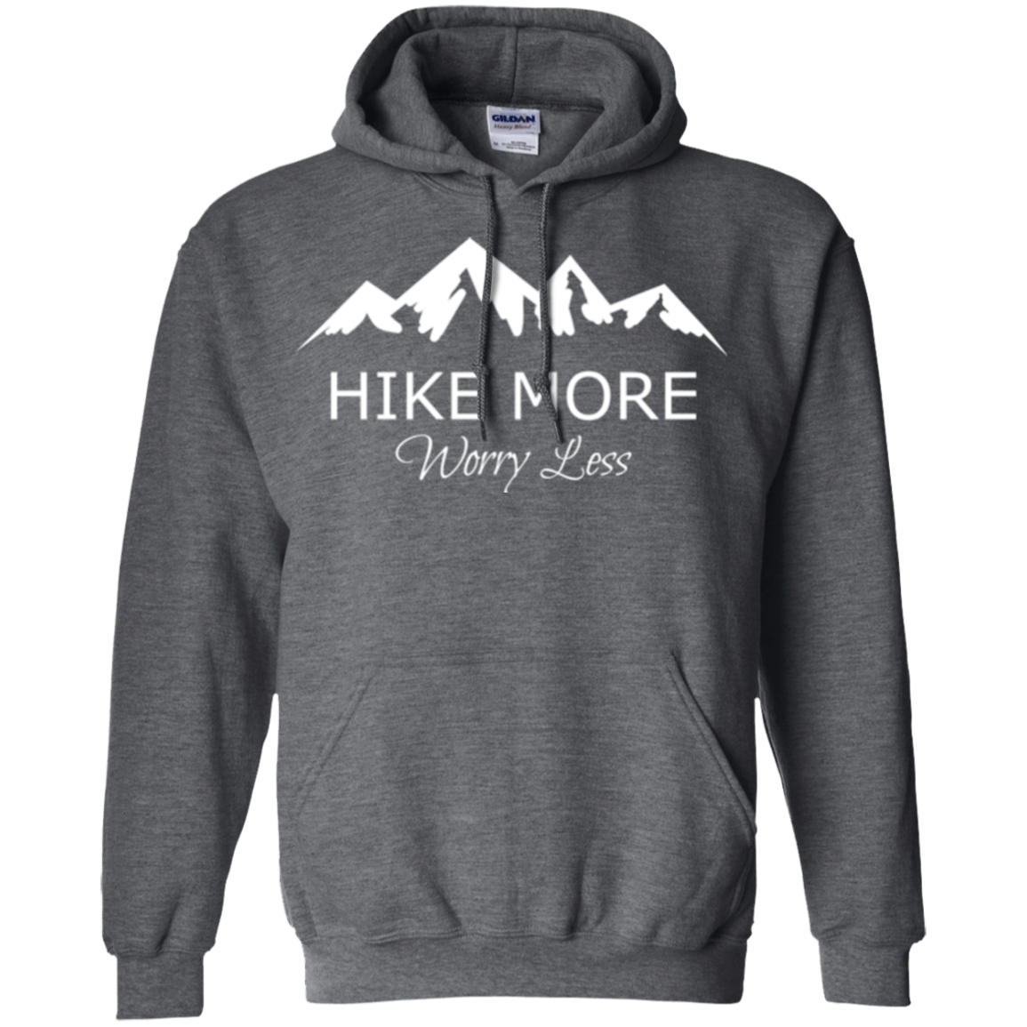 Wander More Worry Less Mountains Hooded Sweatshirt M0wfP