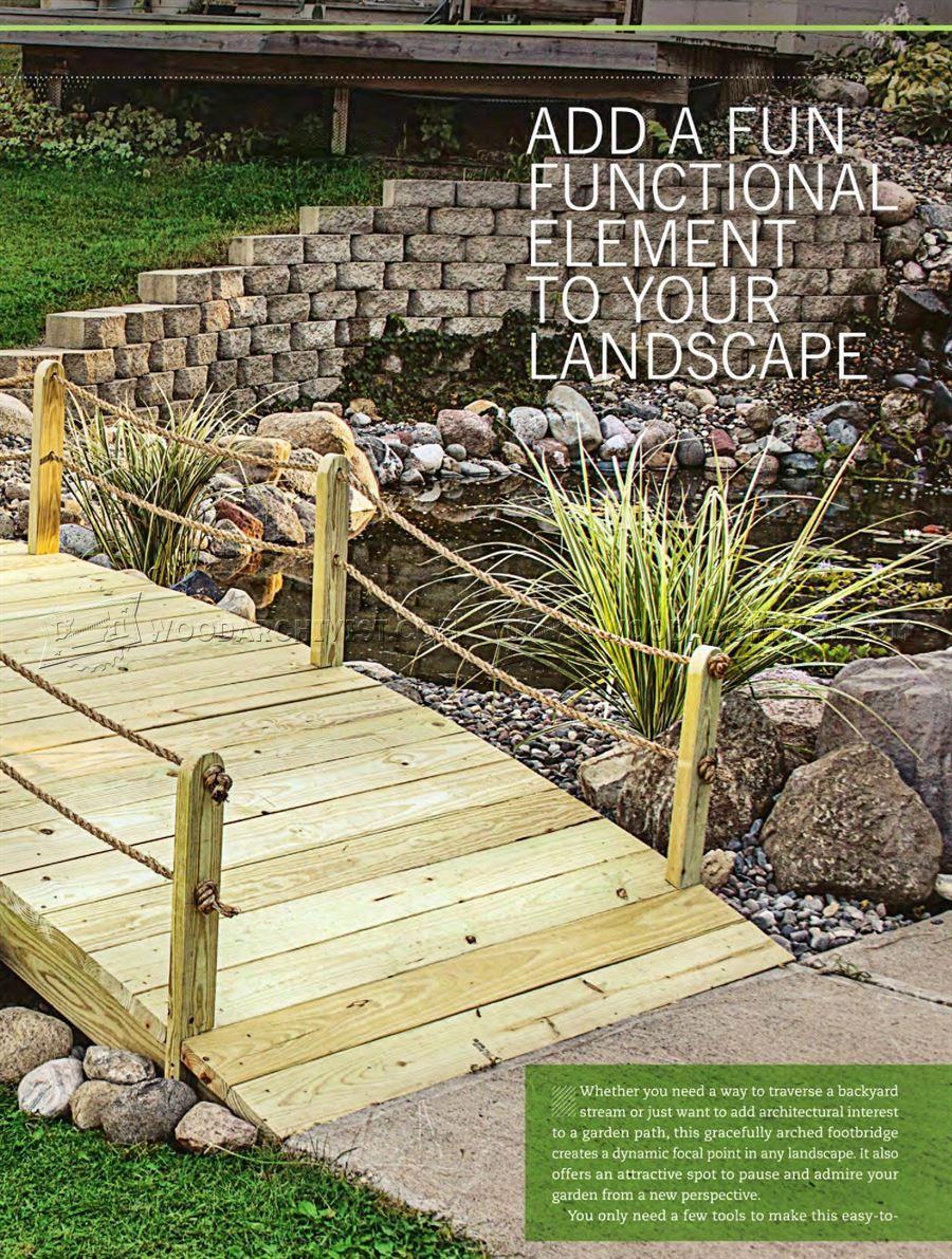 2108 backyard bridge plans - outdoor plans | gear | pinterest