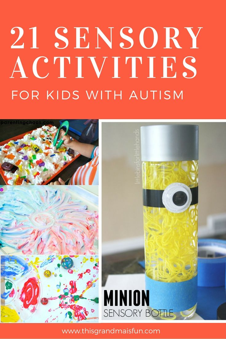 21 Sensory Activities For Kids With Autism Activities