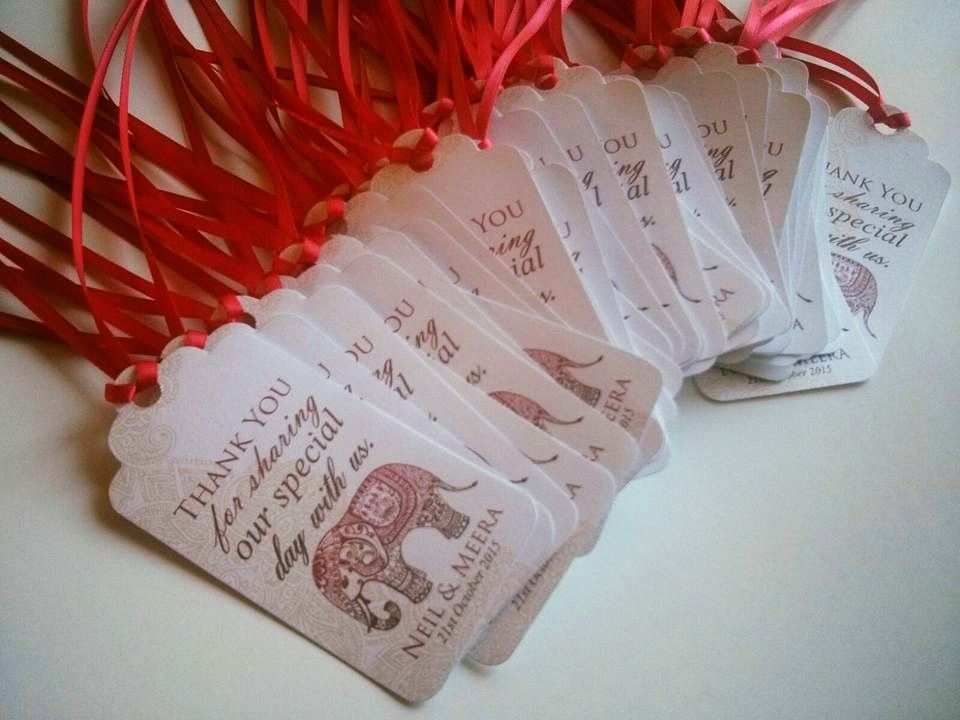 Personalised Gift Tags Indian Wedding Wedding Favour Tags