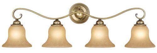 Selection Of Bathroom Light Fixtures: Vaxcel USA VL35474AC Monrovia 4 Light Bathroom Vanity