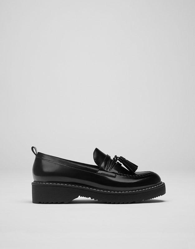Mujeres Vintage Borla Mocasines Planos Escuela Oficina Zapatos Zapatos Oxford Talla - Burdeo Ante Charol, 40