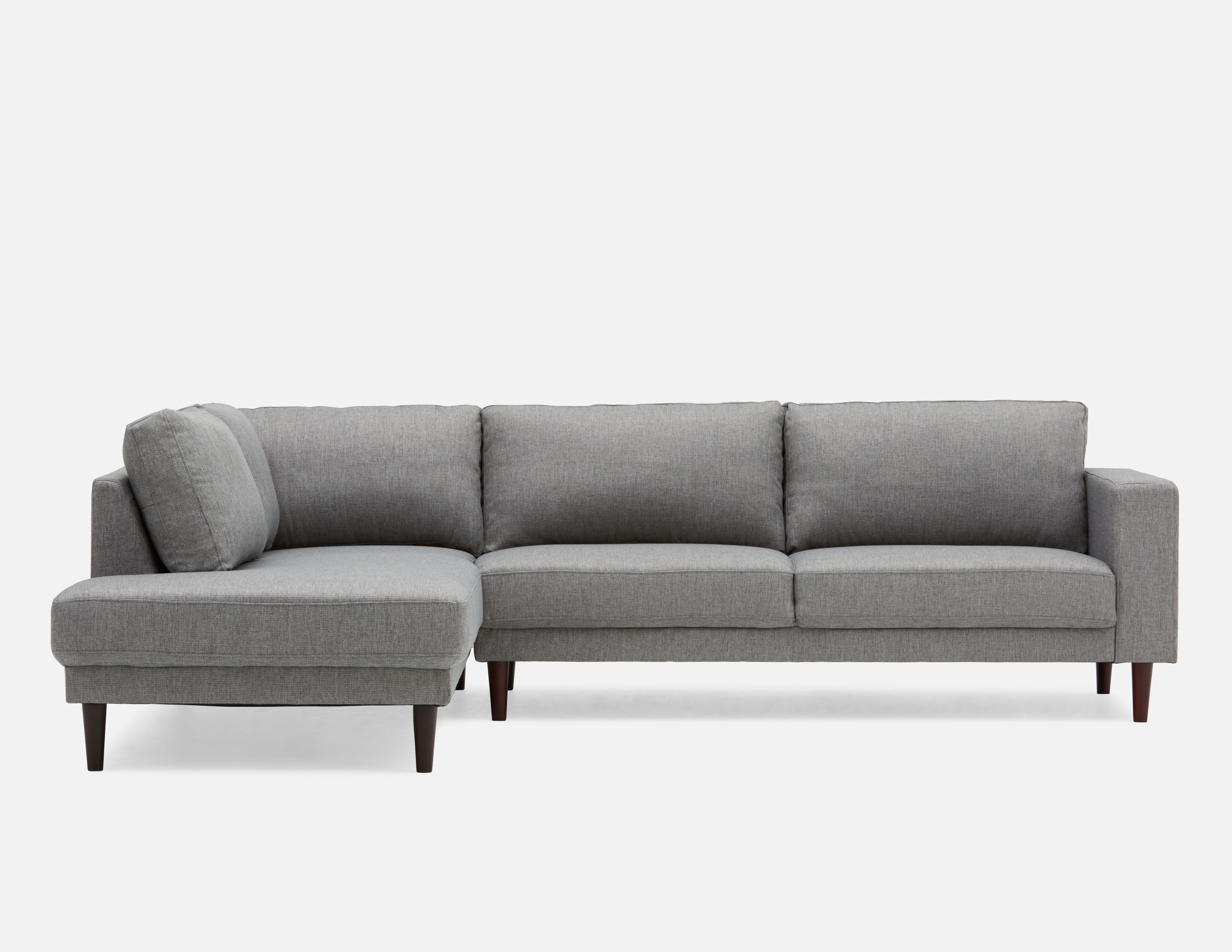 Campbell Grey Left Facing Sectional Sofa In 2019 Grey Sectional
