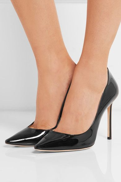 a62c76c37f Jimmy Choo Romy 100 Patent-leather Pumps - Black | Products | Black ...