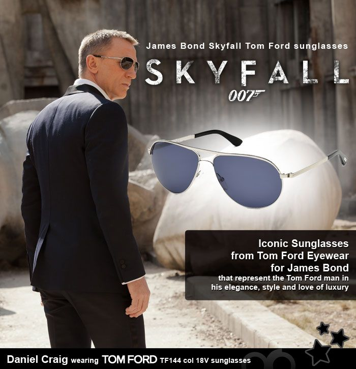 "ec018a31a4bd5 Daniel Craig (as James Bond ""SKYFALL"") in Tom Ford  sunglasses ..."