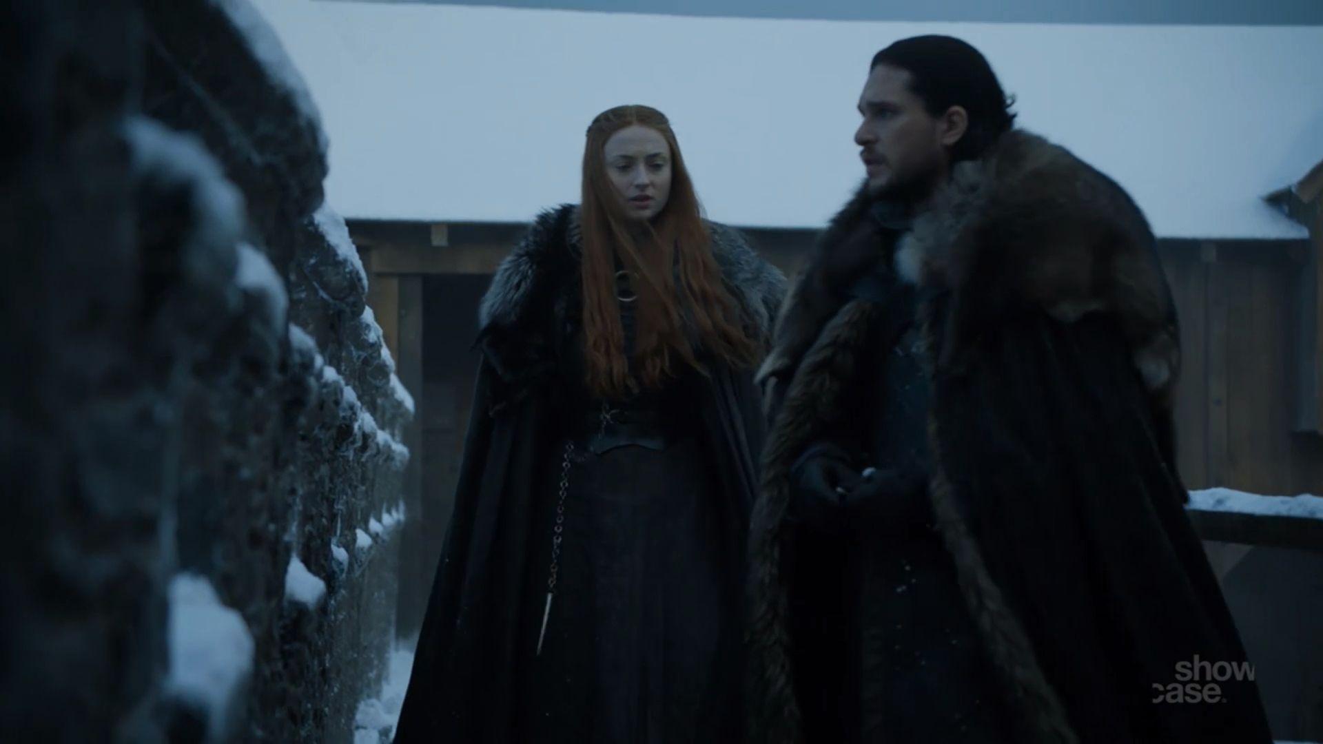 Jon Snow Sansa Stark 7x1 Dragonstone Jon Snow A Dance With Dragons Sansa Stark Starks game of thrones season 7