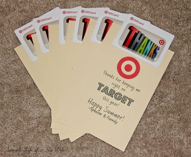 teacher target gift card | Target gift card holder/Teacher ...