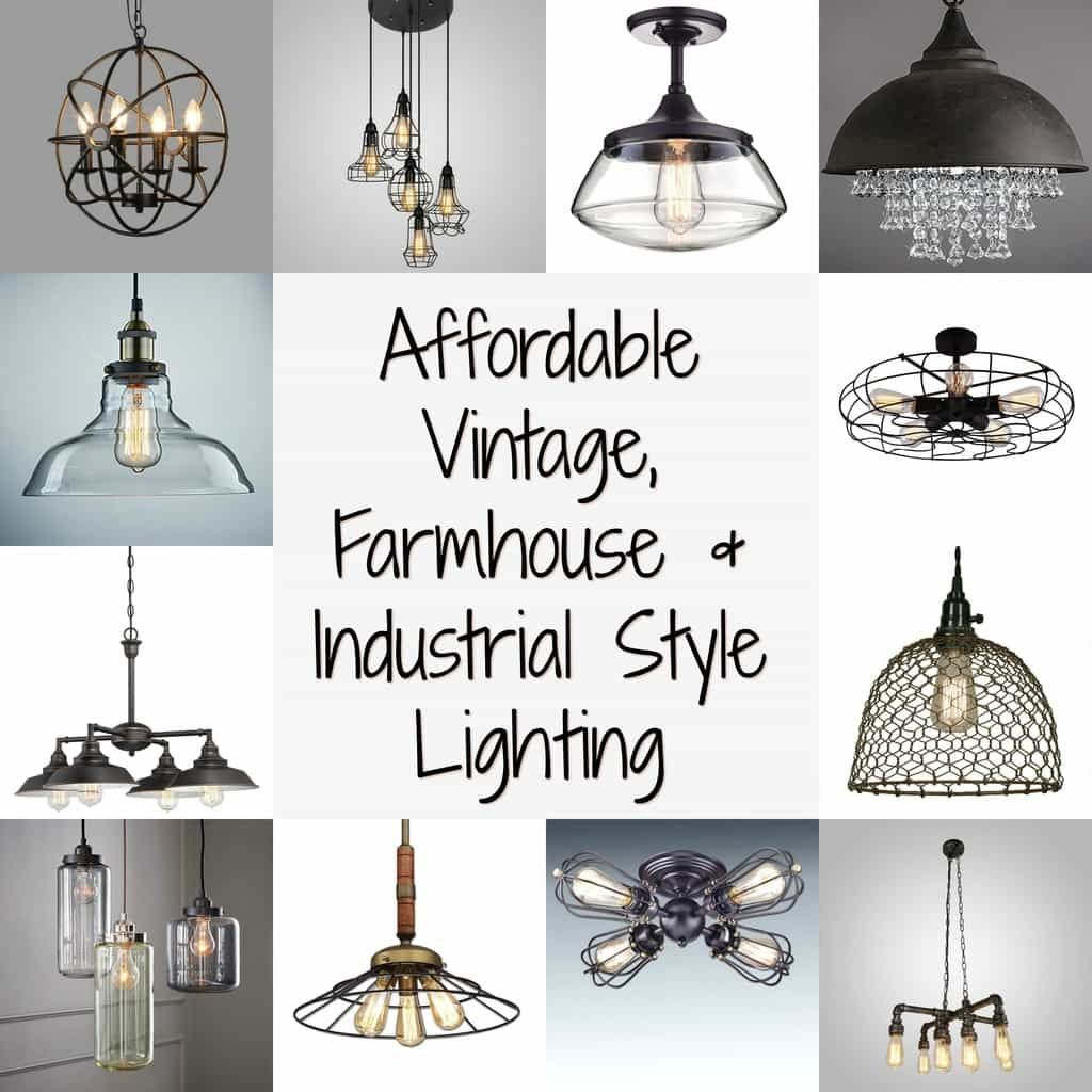 an array of vintage, farmhouse and industrial style ...