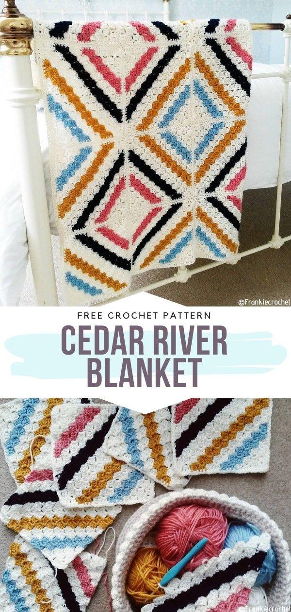 Photo of Cedar River Blanket Free Crochet Pattern – Free Crochet Patterns