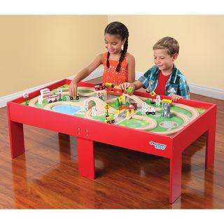 Play Sets For Less. Train TableToys For KidsPlay ...  sc 1 st  Pinterest & Xmas wishlist: $125 Kids Wooden Table Train Set   Overstock.com ...