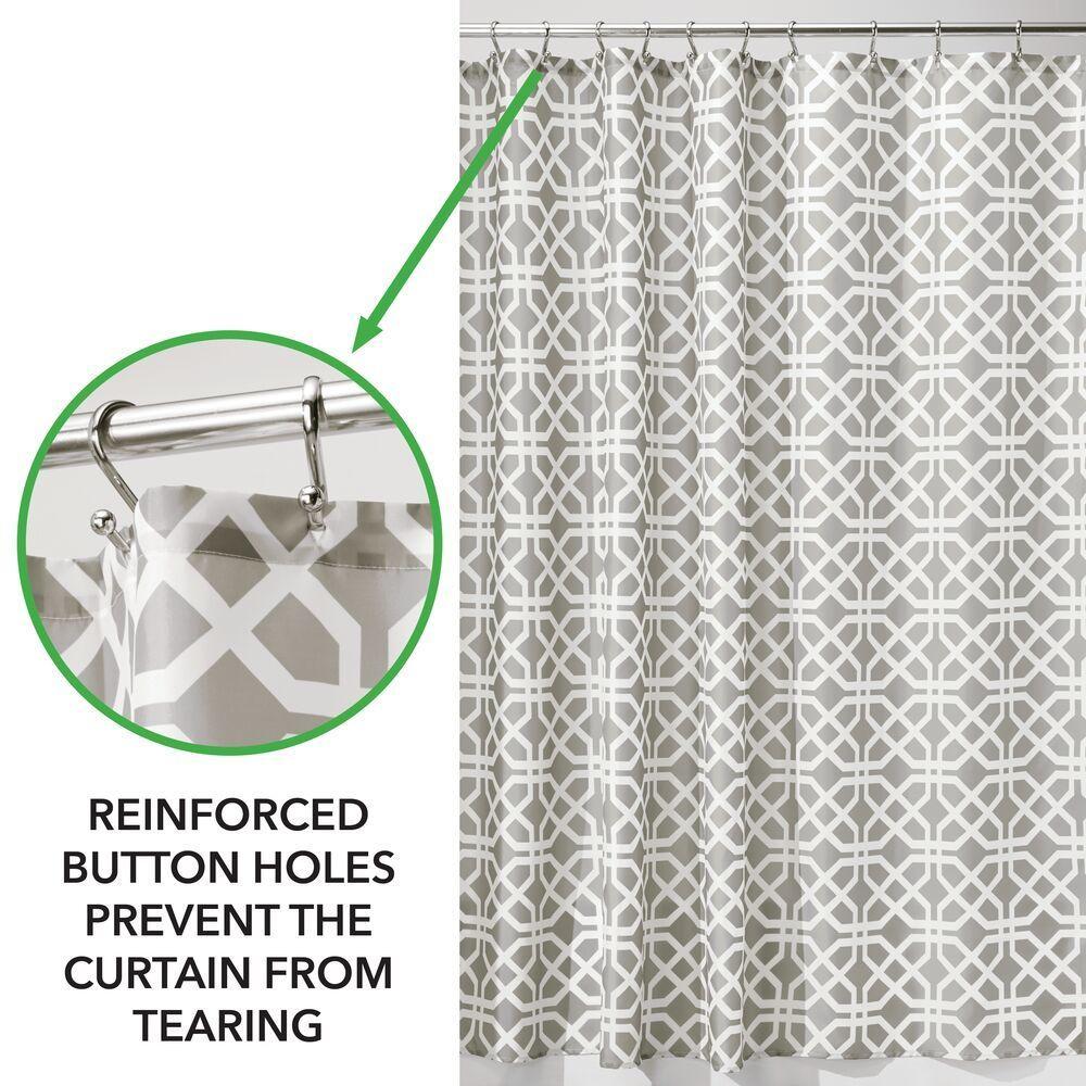 Decorative Print Fabric Shower Curtain In Blue Orange Pink 72 X