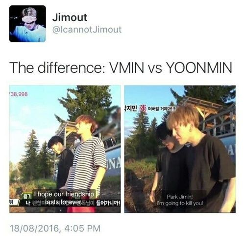 Image de bts, yoonmin, and vmin