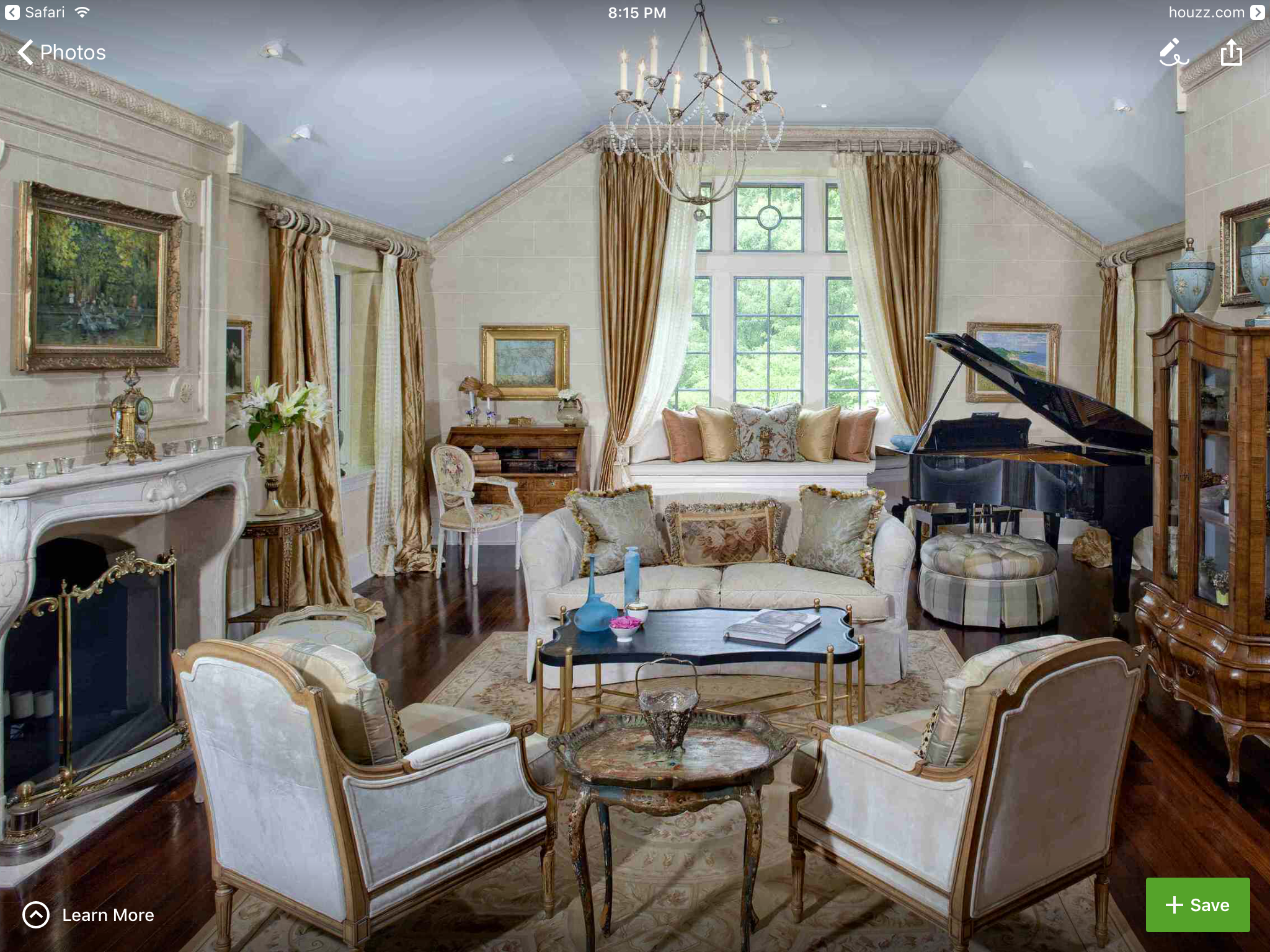 Formal French Living Room With Grand Piano On Philadelphias Main Line