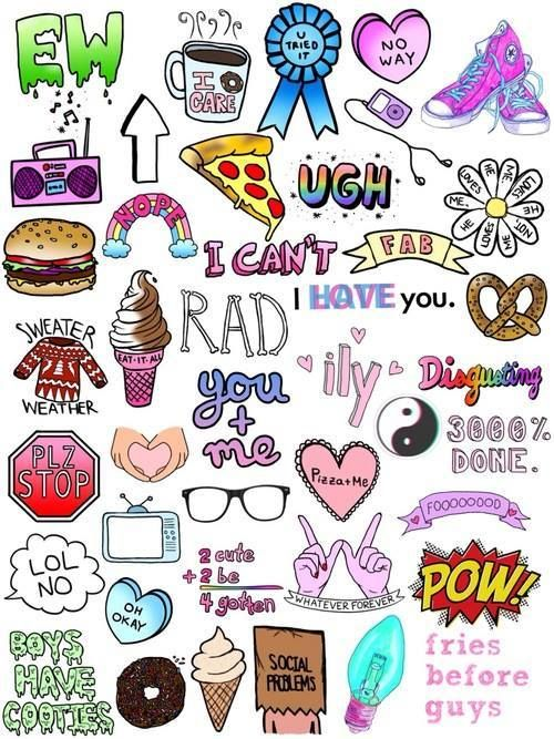 1 Hipster Via Facebook Cute Wallpapers Tumblr Stickers Drawings