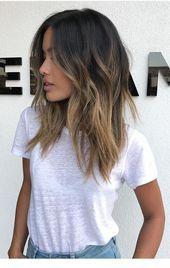 Coole, mittellange, geschichtete Frisuren für einen trendigen Look,  #coole #einen #Frisuren …