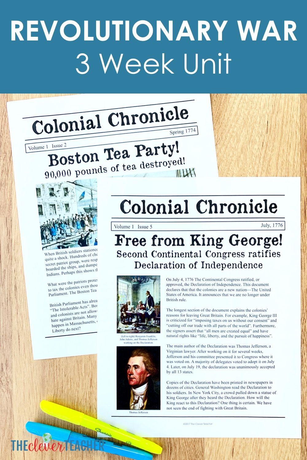 Revolutionary War Lesson Plans For 5th Grade And Middle School