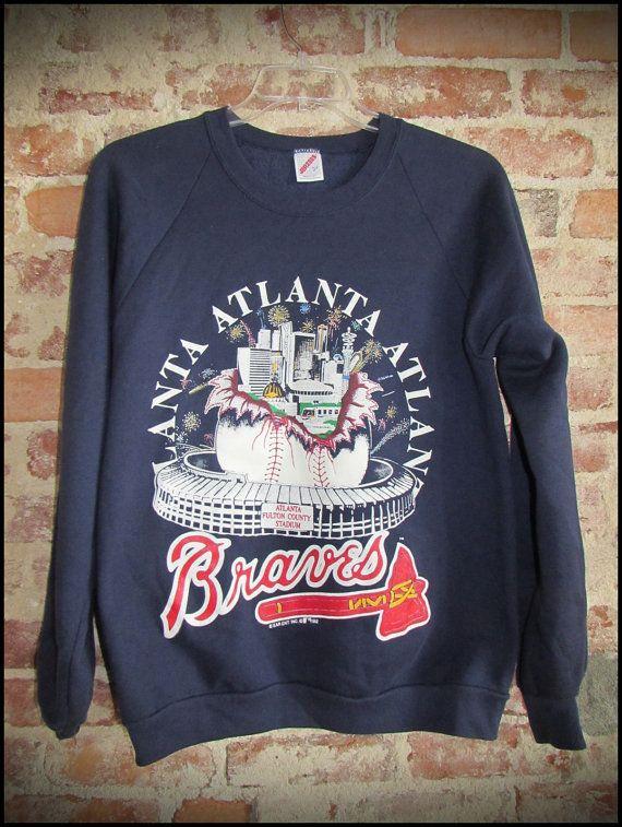 reputable site 03cb1 82550 Vintage 90's MLB Atlanta Braves Crewneck by ...