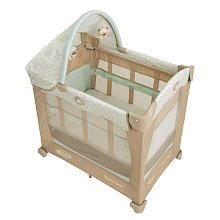 This Is Bookie S Downstairs Crib For Napping Better Than A Pack N Play Because This Mattress Is Designed For Sleeping An Best Crib Mobile Bassinet Babies R Us