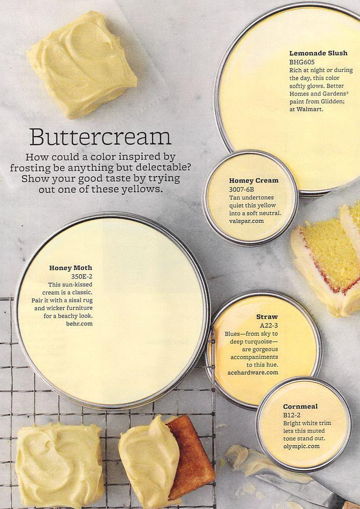 Buttercream Paint Colors soft yellow paint colors
