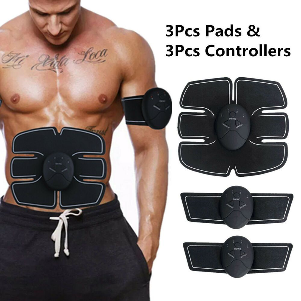 Smart Toner Abdominal EMS Toning Muscle Abs Home /& Gym Body Trainer Fitness Set