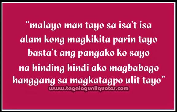 tagalog long distance relationship quotes | ... Her ~ Long ...