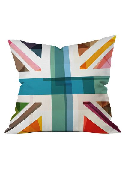 Multicultural Britain Throw Pillow By Deny Designs At Gilt Throw Pillows Pillows Buy Throw Pillows