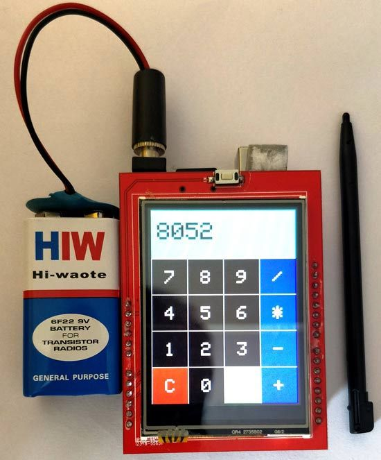 Arduino Uno Calculator using Touchscreen TFT LCD   ITDB02-3 2WD in