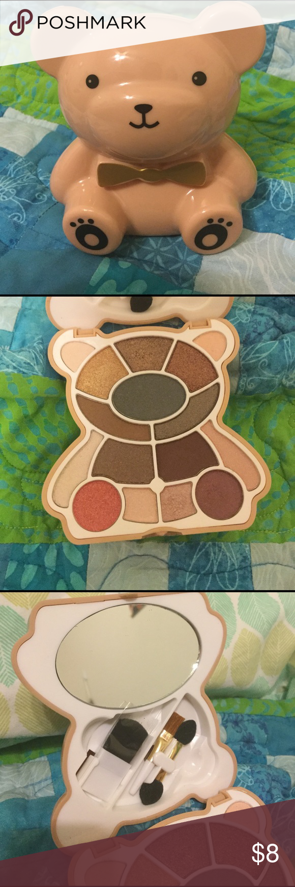 Teddy Bear Eyeshadow Palette Never used! Neutral tones with slight shimmer Forever 21 Makeup Eyeshadow