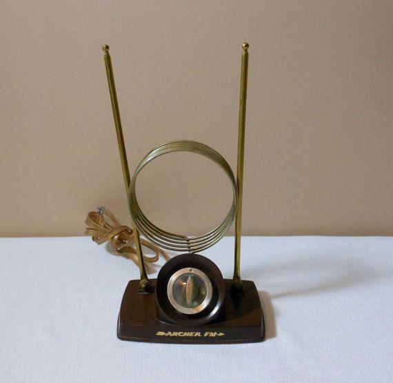 Vintage Television Antenna Rabbit Ears Vintage Television