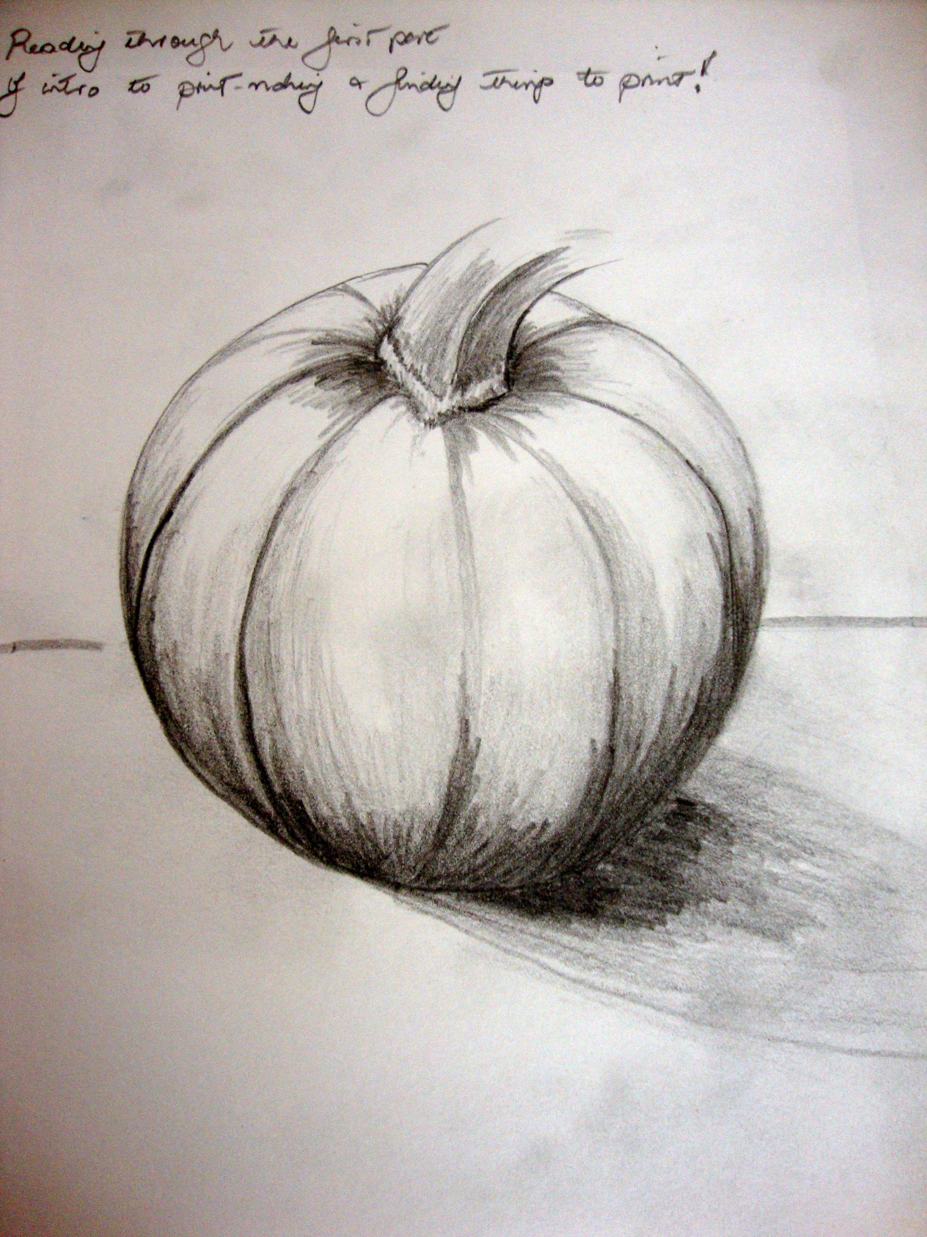 Contour Line Drawing Pumpkin : Pencil sketch pumpkin google search