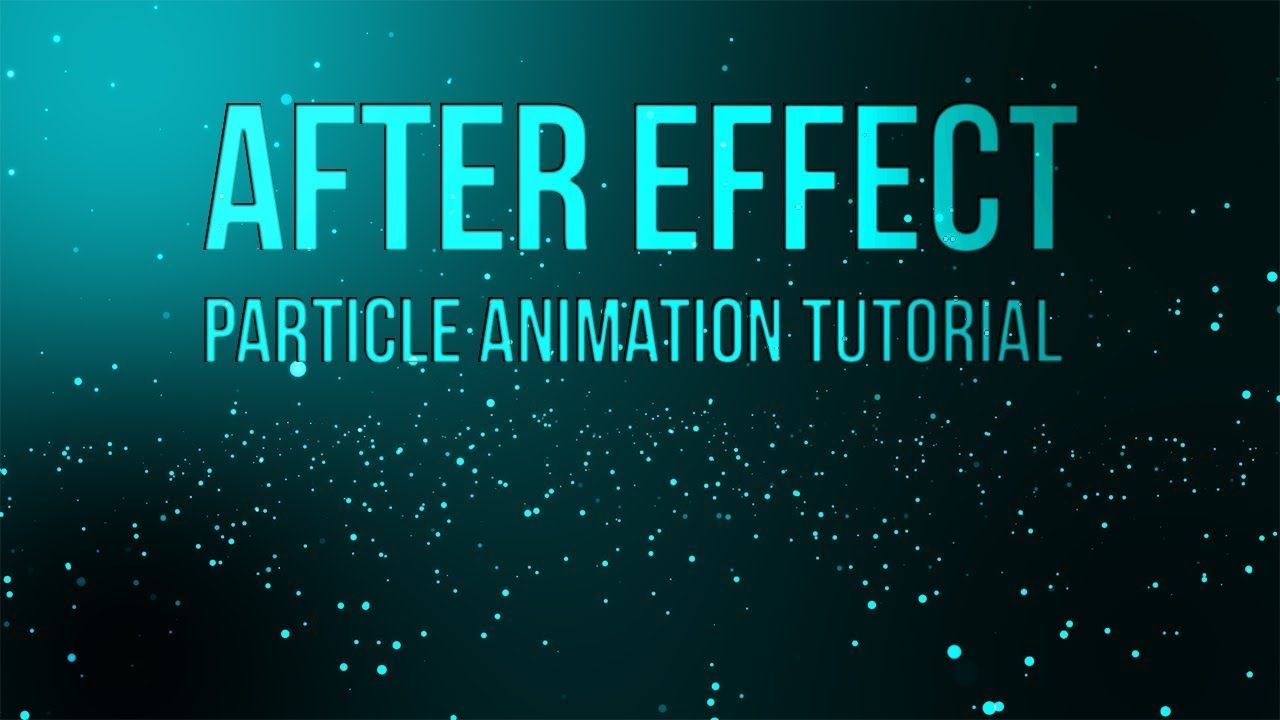 adobe after effects particle background animation tutorial