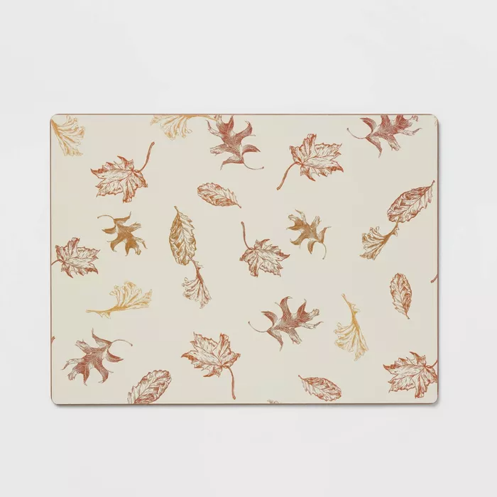 Cork Leaf Print Placemat Threshold Leaf Prints Placemats Autumn Flavors