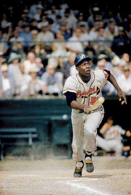 "Henry Aaron - ""Hammerin' Hank"", 1957  The Greatest Home Run Hitter of all time. Period."