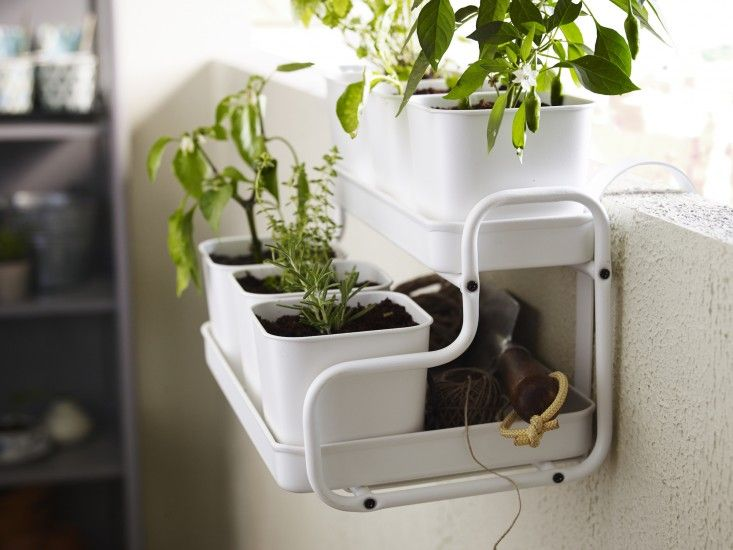 IKEA   SOCKER, Plant Pot With Holder, You Can Hang The Flower Box And Plant  Pot From A Balcony Rail And Create A Decorative Garden, Even On A Small  Space.